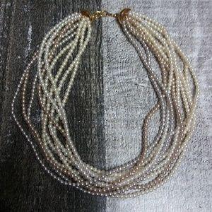 MONET 10 Strands Faux Pearl Necklace